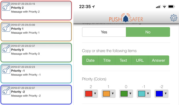 Pushsafer Client APP