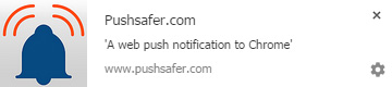 Exampe of a Web Push Notification in Chrome Browser