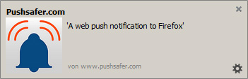 Example for Web Push Notification in Firefox Browser