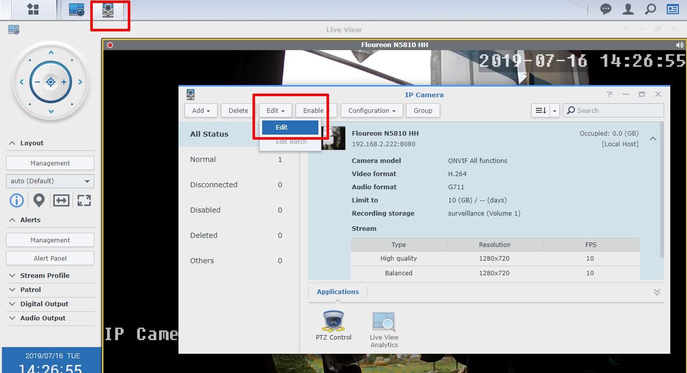 Example Synology Surveillance Station - Pushsafer - send